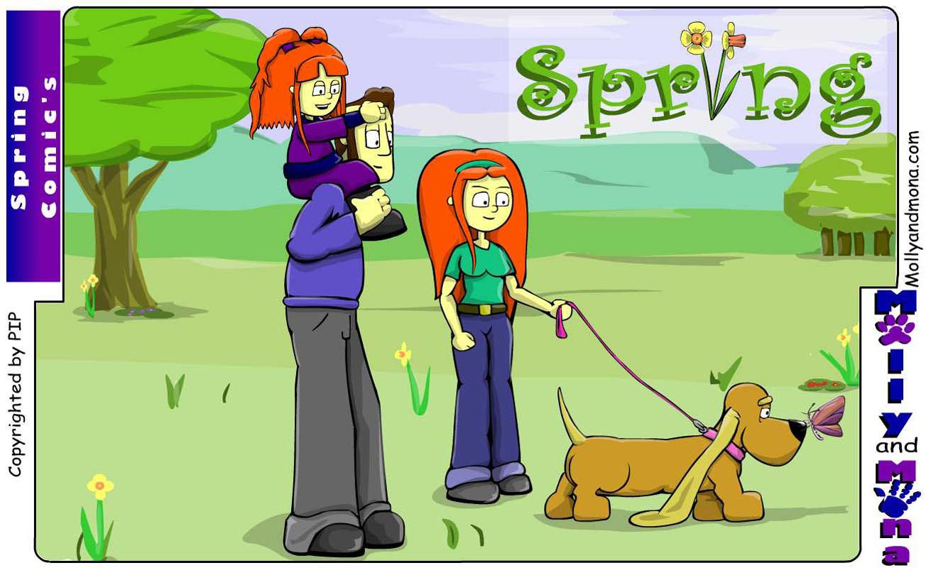 Mandy - Spring Comic 1 - Spring front cover